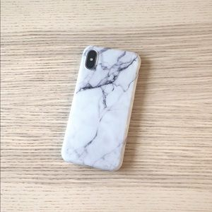 Accessories - SALE iPhone X/8/7 white marble case